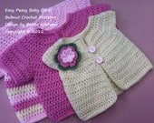Bubnut Crochet Patterns : Crochet Baby Jacket Pattern - Easy Peasy Cardigan Crochet Pattern No.9 ...