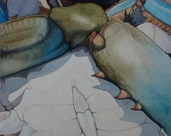 Original Watercolor - Chesapeake Blue Crab