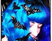 Bat Hair Adornments, Halloween Accessory, Glitter