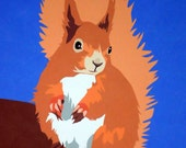 Red Squirrel 8x10 Print