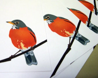 Robin Notecards A2 set of 4