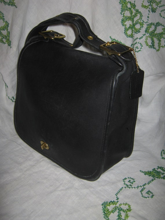 vintage coach stewardess shoulderbag 9525 navy by ms2sweetvintage. Black Bedroom Furniture Sets. Home Design Ideas