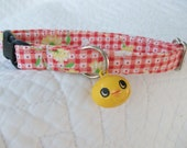 Chick Plaid Cat  Breakaway Collar with  Bell Custom Made