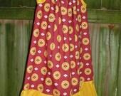 Garnet and Gold Pillowcase Dress size 5-6  mySnicklefritz