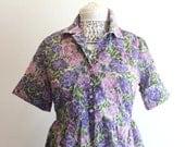 50's Sheer Garden Party Dress M/L