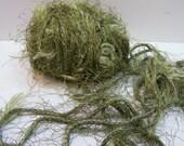 2 Skeins Trendsetter Omega Eyelash Bulky Yarn, Destash Lot Yarn, Color 1443 Olive Green, Green Eyelash Yarn, Bulky Green Yarn