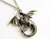 Dragon Necklace (N324) in brass color
