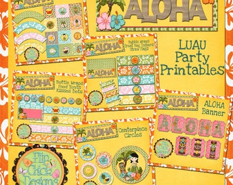 Aloha Luau Printable Party Pack