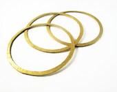 24ct gold plated bronze bangle bracelets hammered- set of 3