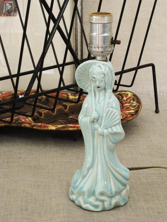Vintage Ceramic Geisha Lamp - Asian Persuasion