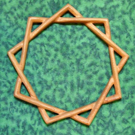 Bahai Symbol of Faith -Nine-pointed Star-Single Line Variation