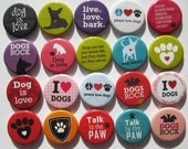 """set of 20 1"""" or 1.25 inch buttons pinback flatback or hollowback"""