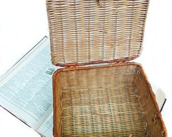 Vintage sewing basket, vintage basket, antique basket