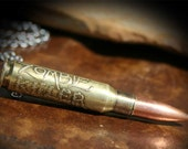 Zombie Killer,  Zombie Apocalypse Bullet Necklace Pendant or Keychain, Etched 308 or NATO 762