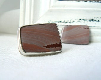 Apache Jasper and Sterling silver Ring - Size 6