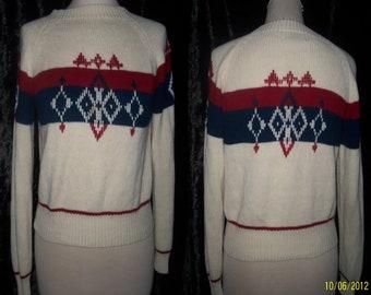 1960s 60s Mad Men winter sweater pullover mid century Medium