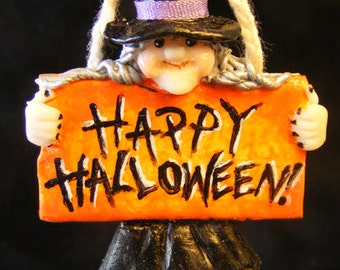 12th Scale Doll House Halloween Witch Hanging Decoration