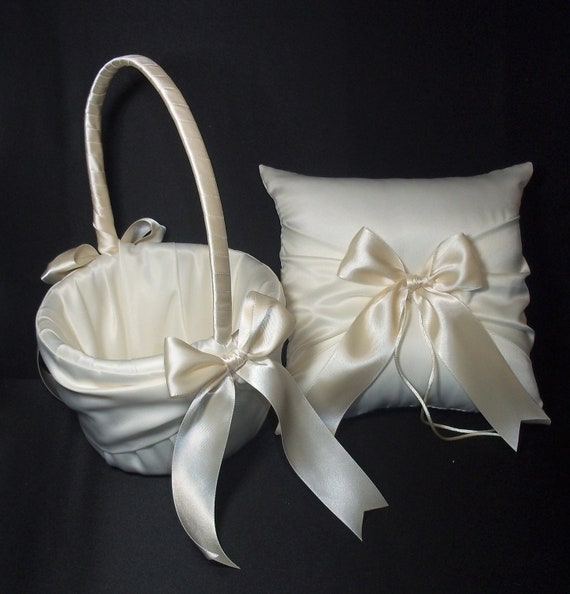 ivory or white wedding ring bearer pillow amp by