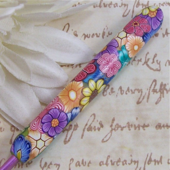 Susan Bates Polymer Clay Covered Crochet Hook, Size G 6/ 4.00mm