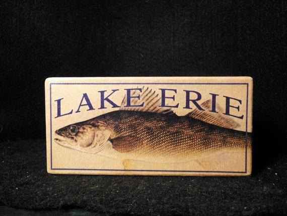 Lake Erie Ohio Lake House Fishing Cabin Decor Lure By 4yourlake