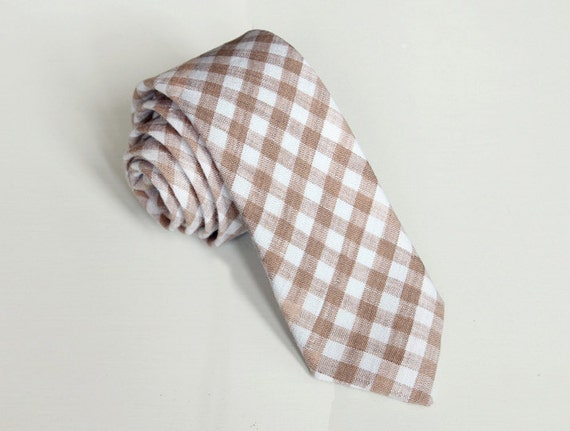 Matthew - Linen Gingham Men's Tie