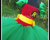 ROCKIN ROBIN Batman and Robin Inspired Tutu Dress - Medium 2/3T