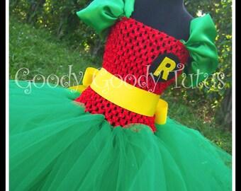 ROCKIN ROBIN Batman and Robin Inspired Tutu Dress - Medium 2/3T