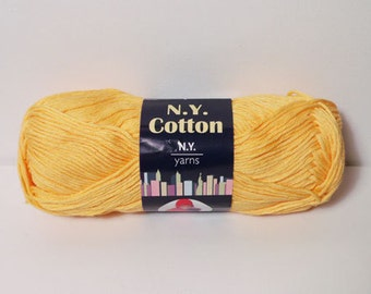 N.Y. Yarns 100% Cotton Mercerized Yarn Color No. 005  YELLOW DISCONTINUED