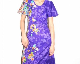 1970s Purple Hawaii Maxi dress