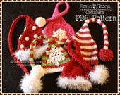 Stocking Cap Hat Crochet Pattern, 8 Sizes from Newborn to Adult, CHRISTMAS ELF - pdf 304