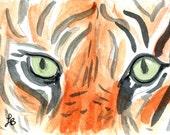 Tiger Eyes watercolor print