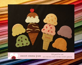 Felt Pack to make our Felt Ice Cream Cone Chore Chart