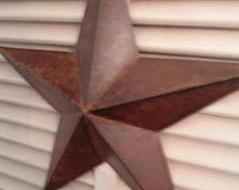 "TWO 12""  Rusty Metal Barn Star Rustic Americana Primitive Crafts Making Wreaths Swags Frame"