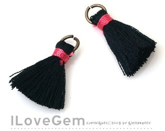 TA-005 Tassel, Black, 23mm, 2pcs