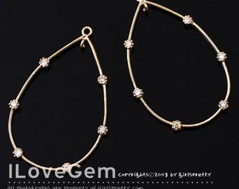 SALE/ 10pcs / NP-1419 Gold plated, slim Drop, connector