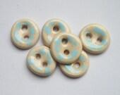 Blue Dot Ceramic Buttons