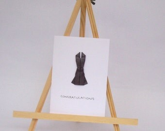Origami Card - Elegant Dress - Congratulations C6 Size