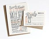Custom (From Scratch) Wedding Invitation Design