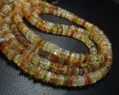16 inches - Gorgeous- High Quality  Natural - Ethiopian OPAL - Smooth Polished Tyre shape beads size  4 mm