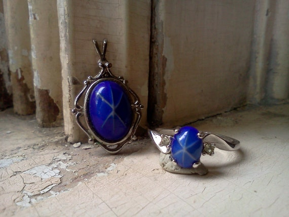 Lindy Star Sapphire ring and pendant