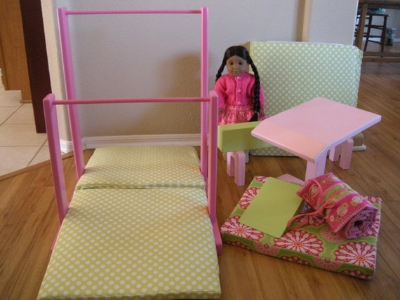 how to make uneven bars for american girl dolls