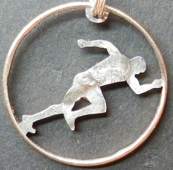Runner Hand Cut Coin Jewelry