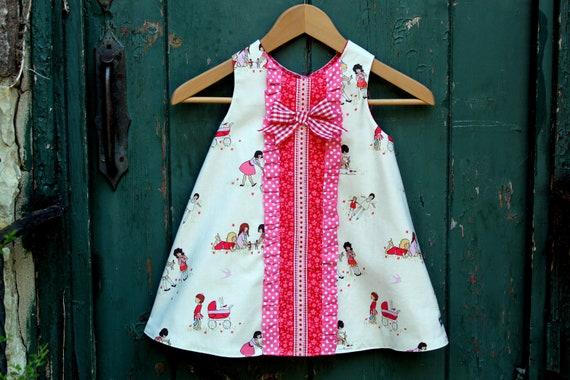 PRINTED PATTERN: Janey Jumper - Original Paper Printed Sewing Pattern - Size 6 Month through 10 Years