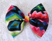 Colorful Hair Bow- Large Bow