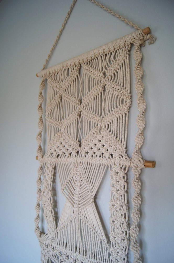 Large Fiber Textile Art Wall Hanging