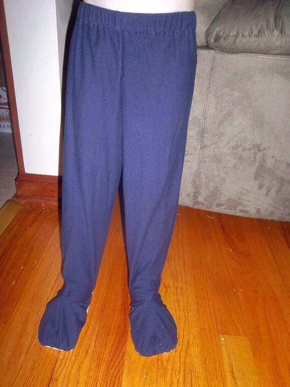 2T Footed Pajamas Pants Organic Cotton Jersey Knit
