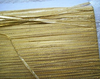 "vintage french gold ribbon trim 1/8"" wide"