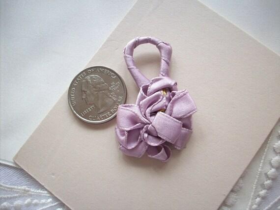 1 ribbon work bow/ornament in lavender silk