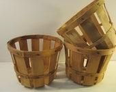 SALE SALE SALE  3 Vintage Orchard Baskets  Fruit Baskets  Farmer's Market Baskets