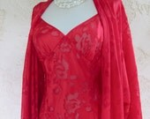 Victoria's Secret vintage Peignoir Set in Valentines Red size Medium/Large